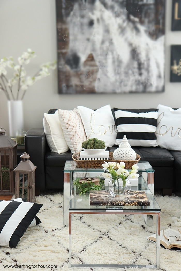 Casual Glam family room decorating ideas