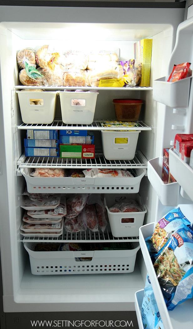 Easy Convenient Freezer Organization ideas! #spon www.settingforfour.com
