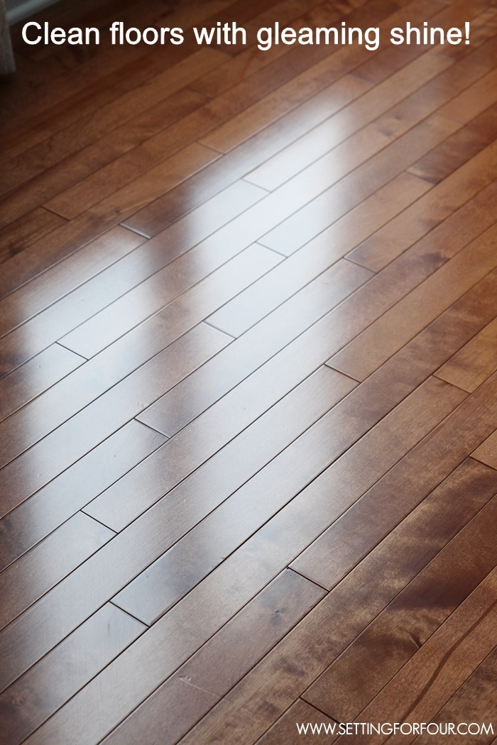 Floor care tips - how to clean hardwood floors easily and it's non toxic! No streaky residue! #KeepItClean #sp