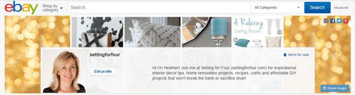 Come see my eBay Guides and Collections! Lots of helpful decorating tips and fun gift guides!