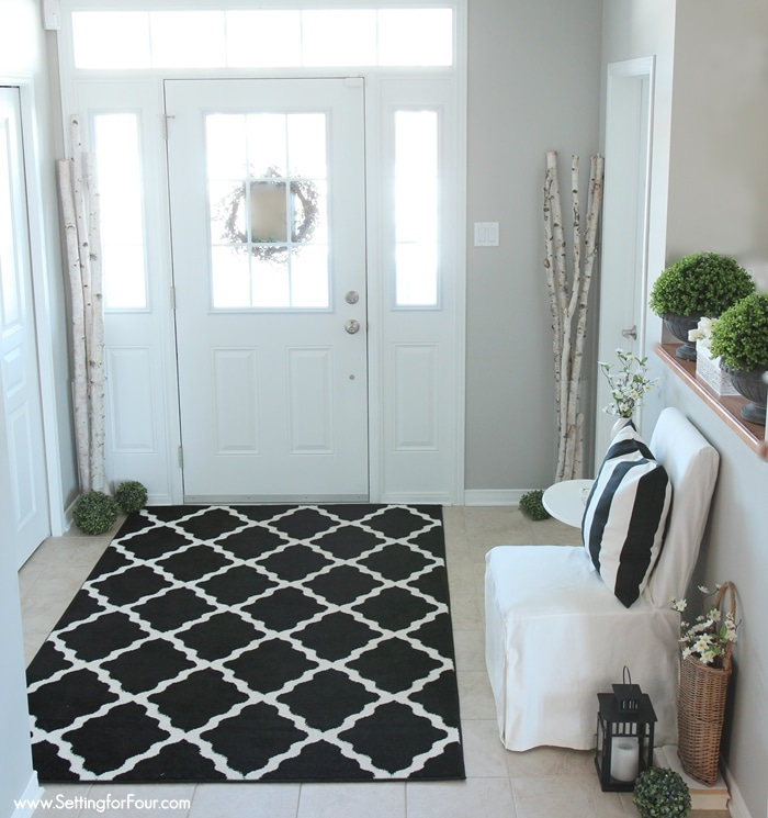 Foyer Rug Winter : Spring home tour setting for four