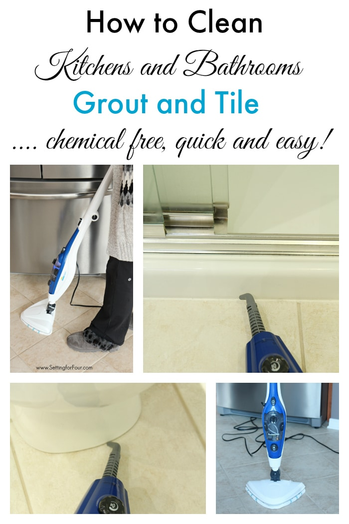 How to Clean Tile Floors - the Chemical Free Way - Setting for Four