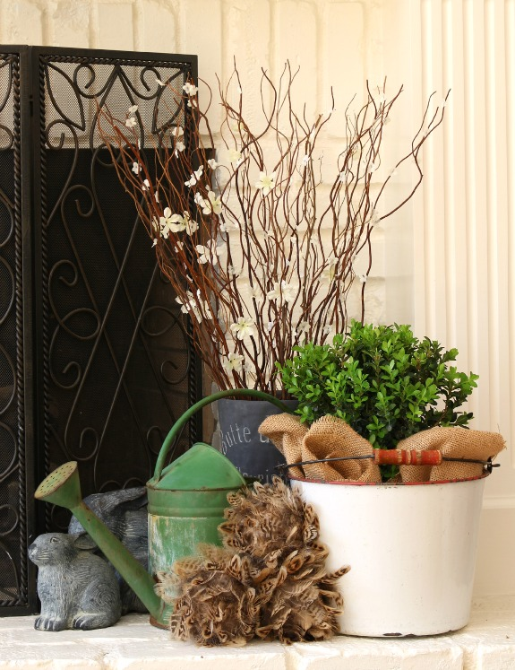 Fresh Spring Mantel decor tips