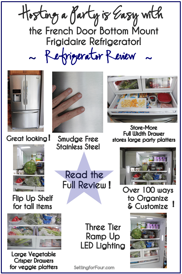 How my refrigerator helps me organize and prepare when I'm hosting a party! #spon