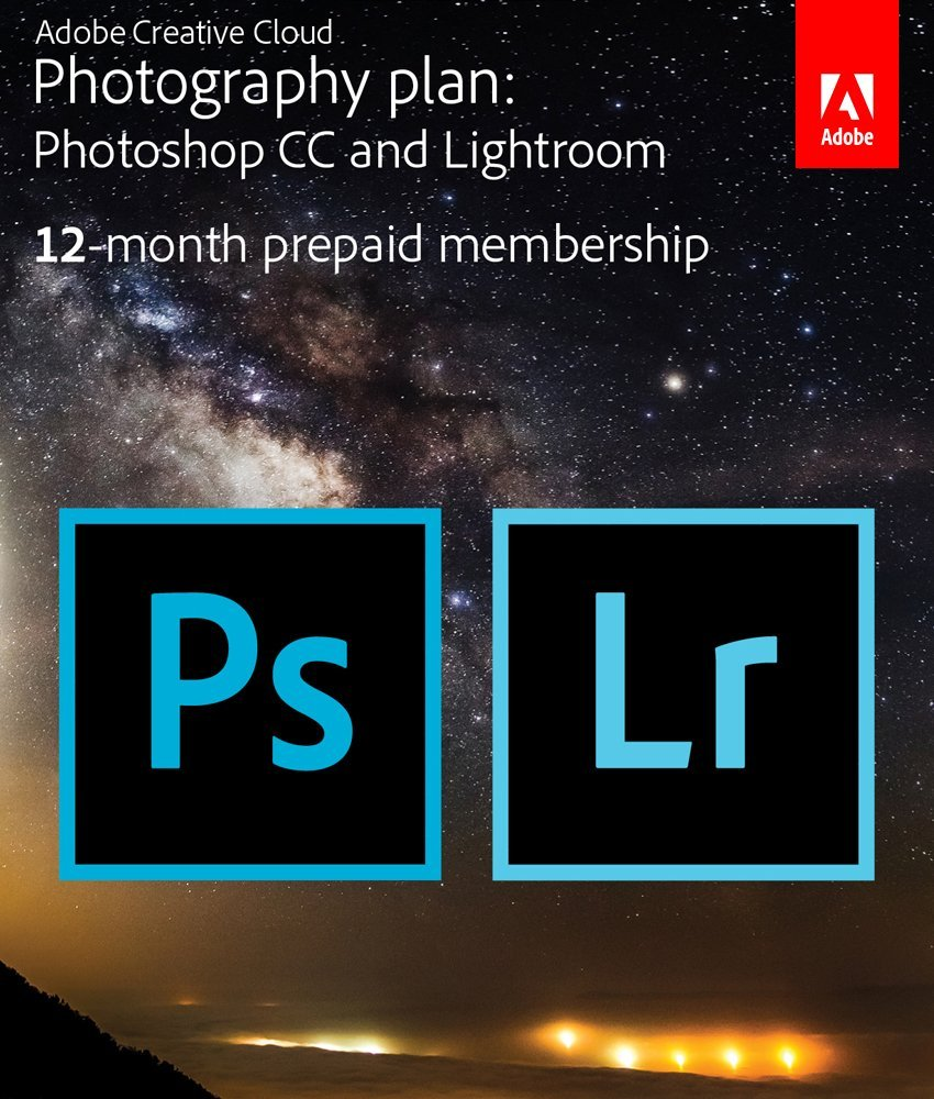 Edit your photos with these amazing photo editing programs: Photoshop CC and Lightroom. Adobe Creative Cloud 12 month membership program includes updates, tutorials and support.
