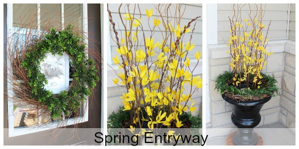 Spring Entryway Ideas for Spring Curb Appeal! Decor tips and ideas.
