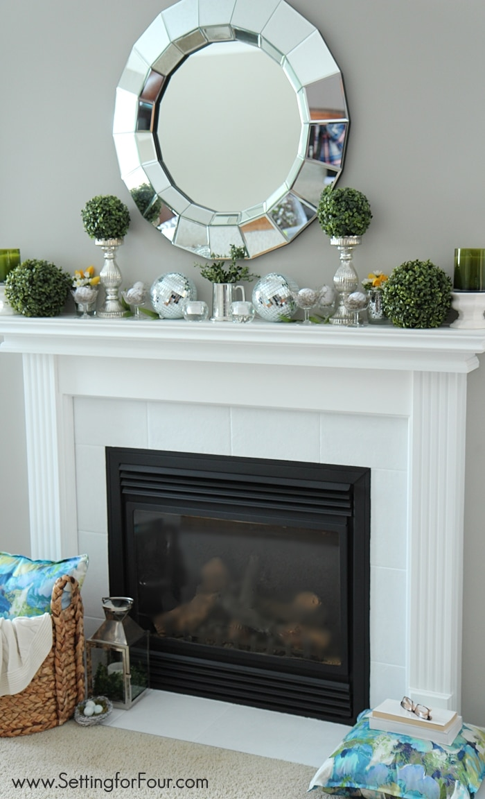 to decorate a spring mantel with style see my mantel filled with