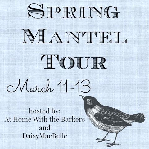 spring mantel tour www.Settingforfour.com