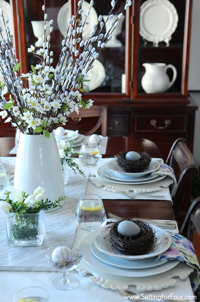 Spring Table and dining room decor