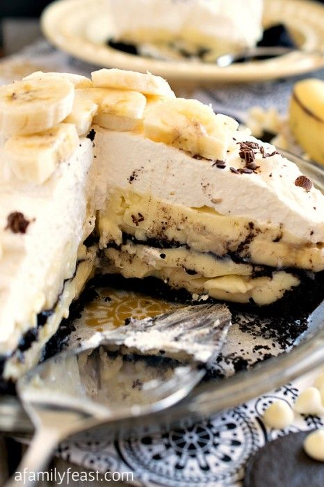 White Chocolate Banana Cream Pie Dessert Recipe