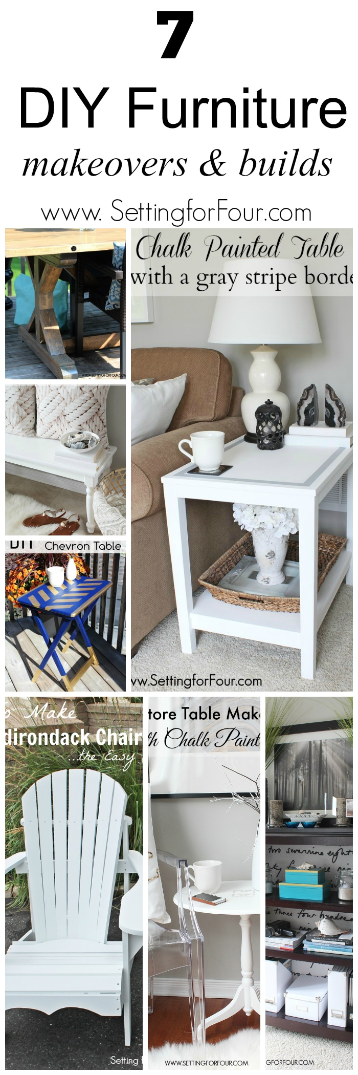 Diy Furniture Makeovers And Builds Setting For Four