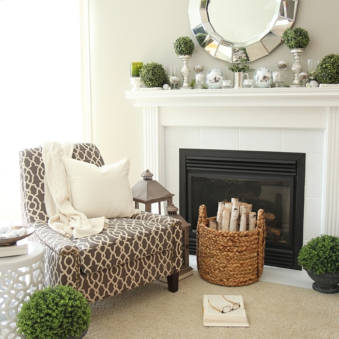 How To Paint Tile Easy Fireplace Paint Makeover: fireplace setting ideas