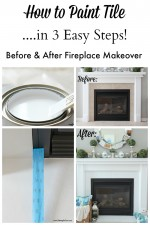 How to Paint Tile – Easy Fireplace Paint Makeover