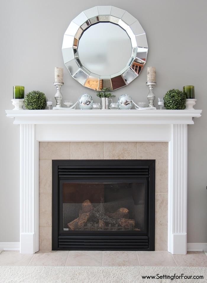 How to paint tile on your fireplace in just 3 easy steps! No sanding required and I show you the supplies you need too!