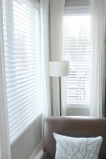 Updating the windows- Faux Wood Blinds Installation