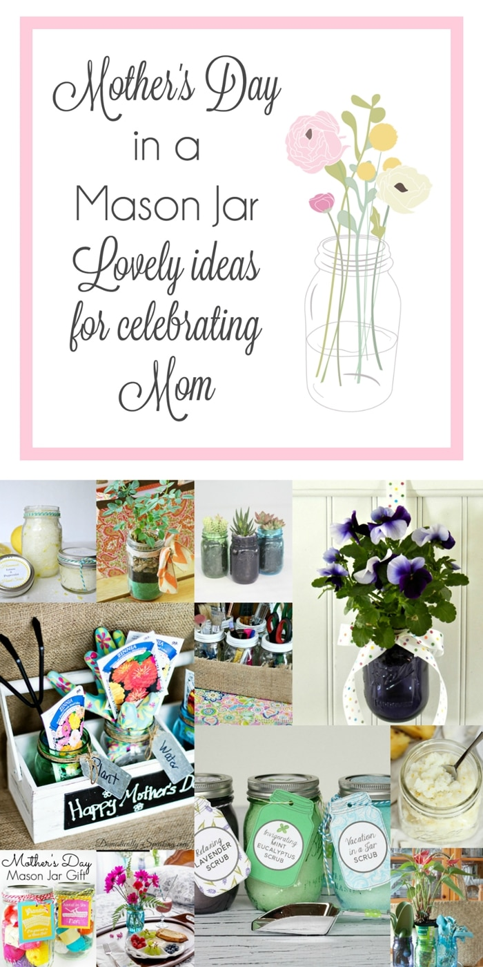 10 GORGEOUS DIY Mother's Day Mason Jar gifts to make for Mom! Easy budget friendly DIY gift ideas. www.settingforfour.com