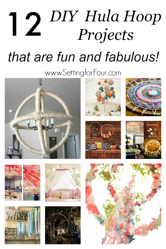 12 DIY Hula Hoop Projects that are fun and fabulous! Decorate your home with style on a budget with everyday hula hoops! Lighting, wall art, canopies and more!