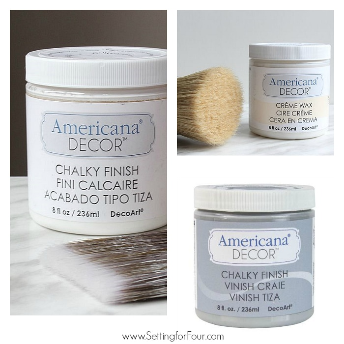 DIY Chalky Finish Paint projects supplies