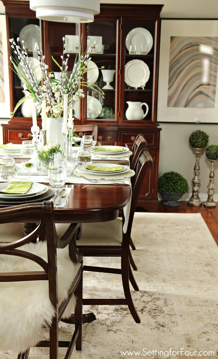 Design tip how to choose the perfect area rug setting for Pictures for dining room area
