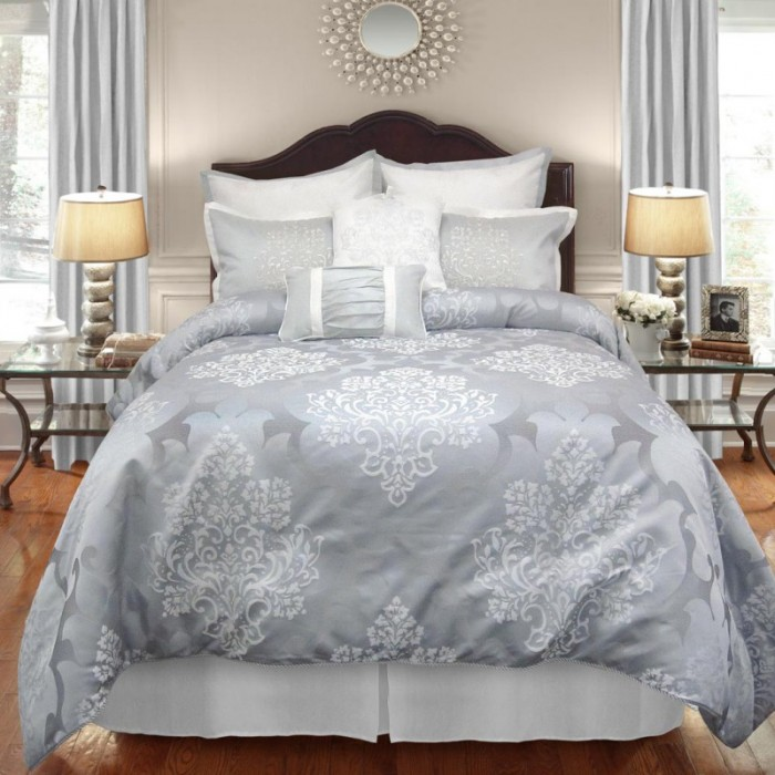 See this EXQUISITE 8 piece comforter set in our guest bedroom! Such a dreamy decor update! www.settingforfour.com