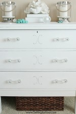 Painted Dresser with Chalky Finish Paint