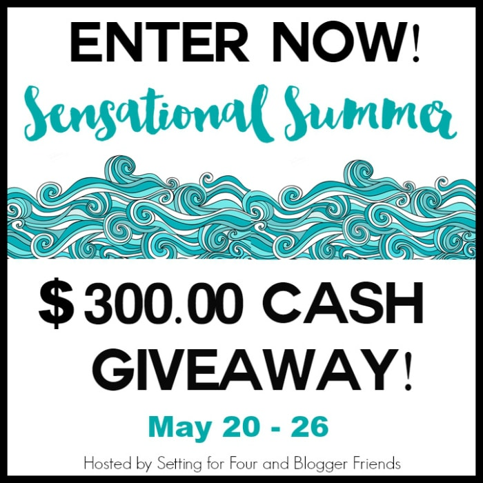 Enter now to win this Sensational Summer $300 PayPal Cash Giveaway! Open to USA and Canada. www.settingforfour.com