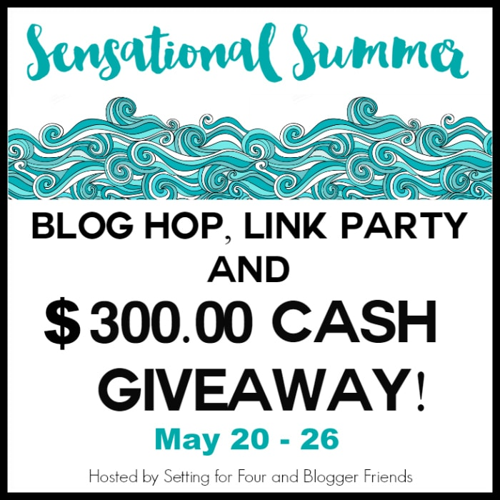Check out the Sensational Summer Blog Hop, Link Party and $300 Cash giveaway! Outdoor living, Yard and Garden inspiration. www.settingforfour.com