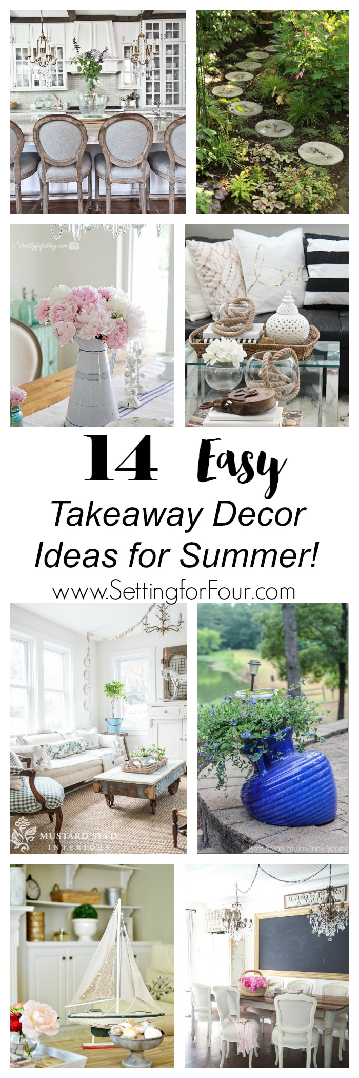 See 14 EASY Takeaway Decor Ideas for summer from the bHome bloggers - real people with real homes! www.settingforfour.com
