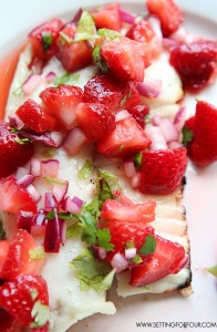 Barbecued Tilapia with Strawberry Lime Salsa