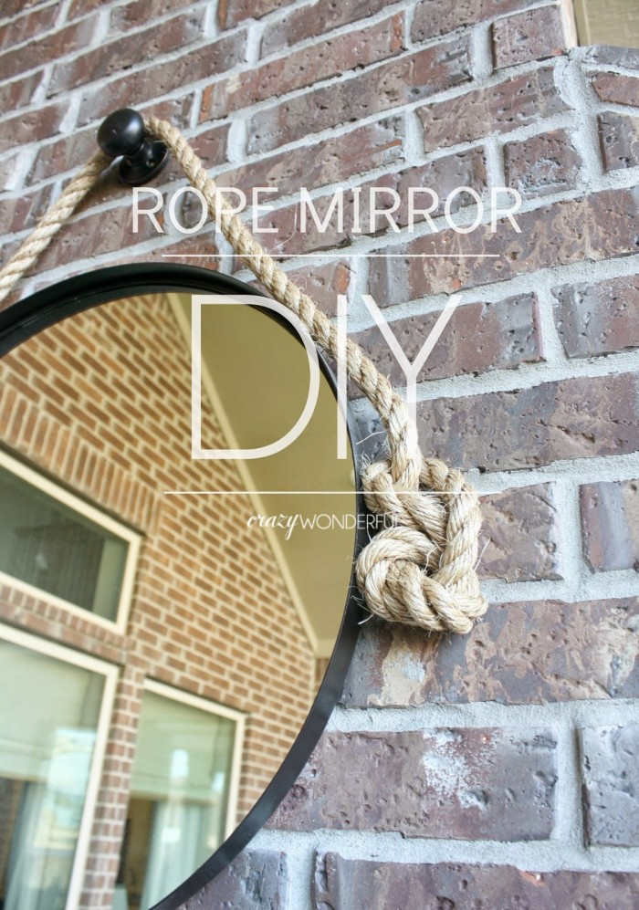 IKEA hack - Grundtal DIY Rope Mirror