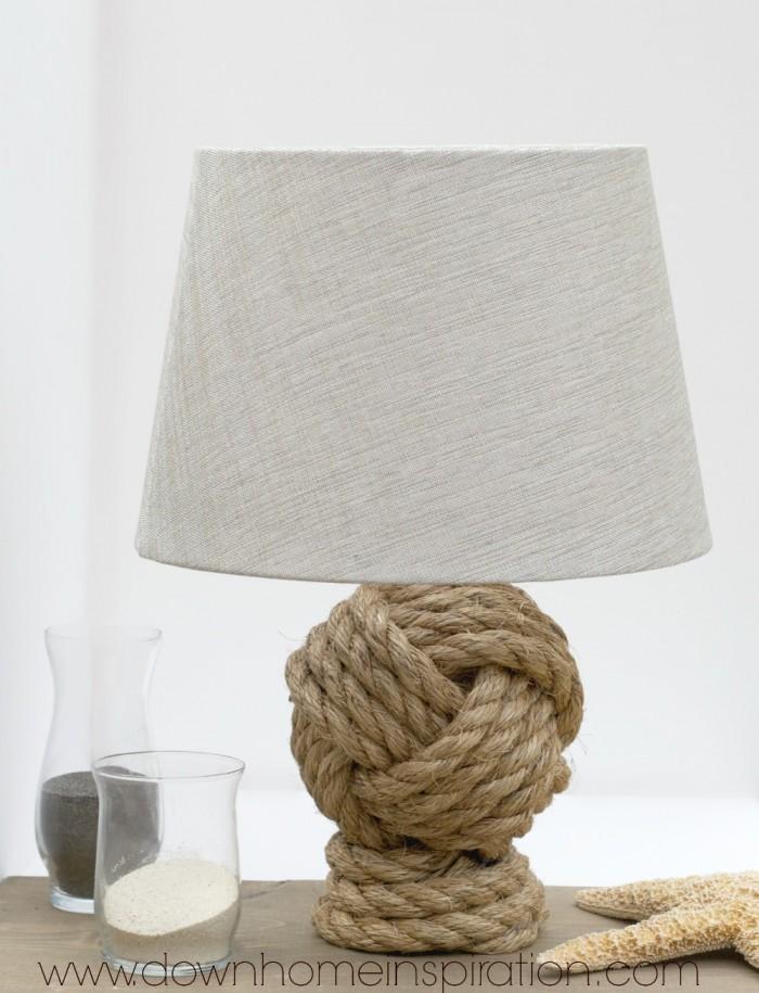 Pottery Barn Knockoff Rope Lamp DIY