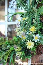 Butterfly and Fern Summer Wreath DIY