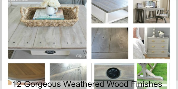 12 DIY Weathered Wood Finishes you must try! Great way to update your furniture and decor!