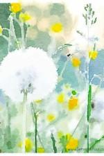 Free Watercolor Art Printable – Field of Flowers
