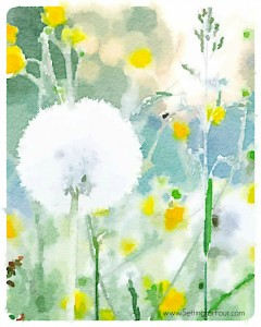 Free Watercolor Art Printable – Field of Flowers