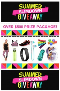 Enter this amazing summer slimdown giveaway! Over $500 prize package!