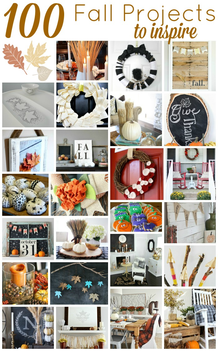 100 Gorgeous DIY Fall project ideas to decorate your home! www.settingforfour.com