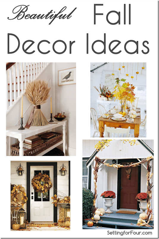 Decorating for Fall Inspiration for your home -gorgeous indoor and outdoor ideas!