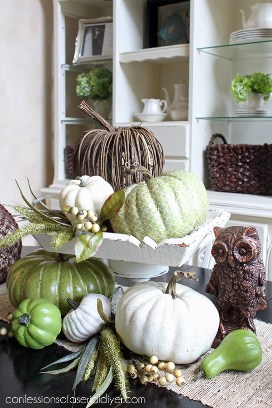 DIY pumpkins - table top centerpiece idea