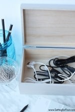 DIY Cable Storage Box Organizer