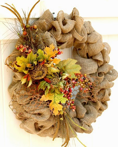 Easy DIY Burlap Wreath for Fall