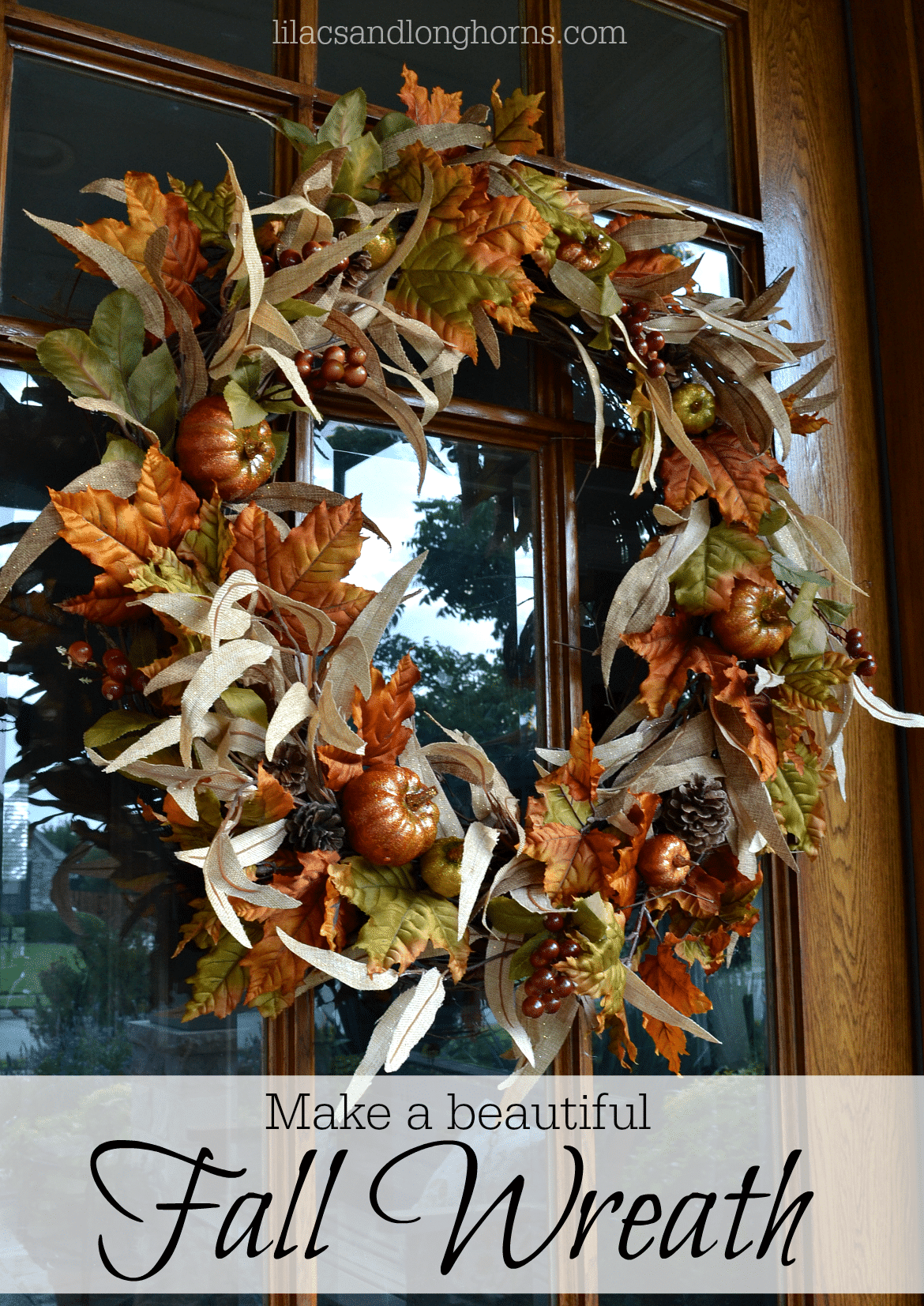 DIY Fall wreath - stunning!
