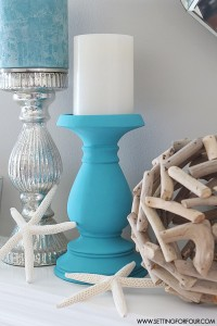 Chalky Finish DIY Painted Candle Holders