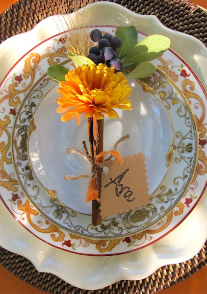 Fall entertaining ideas and a DIY place card project.