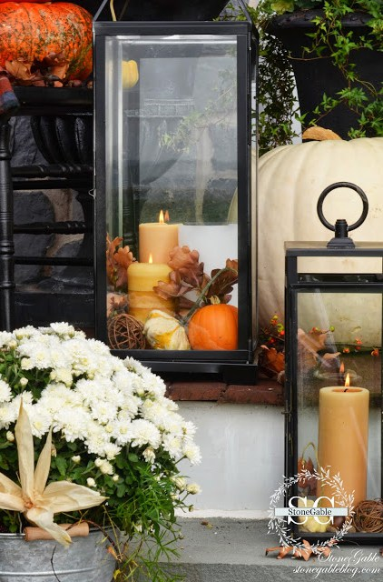 Fall Lantern Decorating ideas for the front porch!