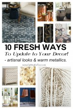 10 Fresh ways to Update your decor. www.settingforfour.com