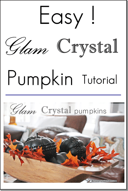 Glam Glitter Pumpkin DIY Tutorial. Perfect for fall and halloween decorating! www.settingforfour.com