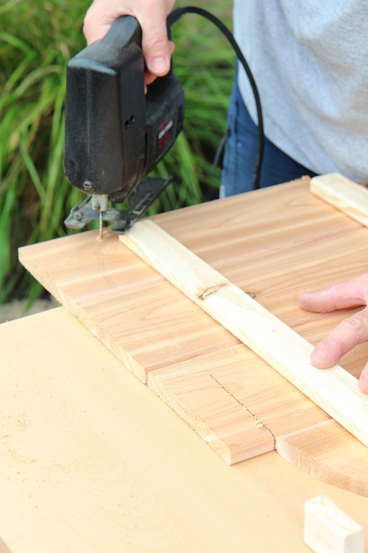 How to build a DIY Pumpkin Stand. www.settingforfour.com