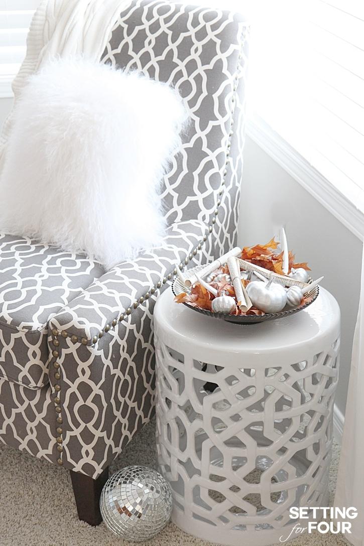 DIY Rustic Centerpiece decor idea using items you have at home. www.settingforfour.com