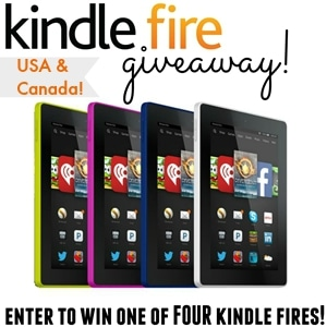 Kindle Fire Giveaway! Enter now, 4 Lucky winners - I'm giving away 4 Kindle Fires! www.settingforfour.com